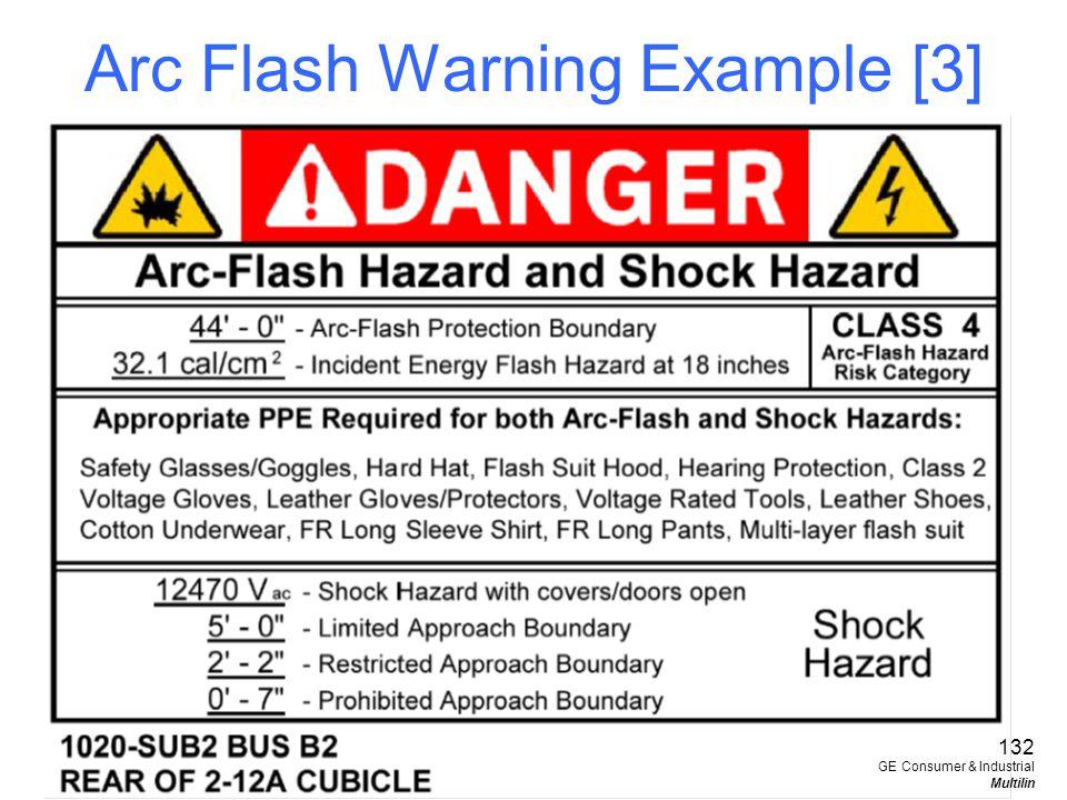 Arc Flash Warning Example [3]